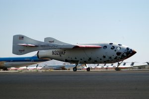 SpaceShipOne as Bryan and I saw her on June 21, 2004 in the Mojave Desert